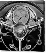 1950 Oldsmobile Rocket 88 Steering Wheel 4 Canvas Print