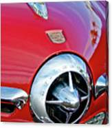 1950 Studebaker Champion Hood Ornament Canvas Print