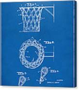 1951 Basketball Net Patent Artwork - Blueprint Canvas Print