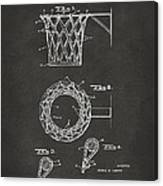 1951 Basketball Net Patent Artwork - Gray Canvas Print