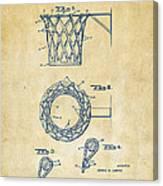 1951 Basketball Net Patent Artwork - Vintage Canvas Print