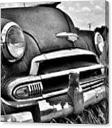 1951 Chevrolet Power Glide Black And White 3 Canvas Print