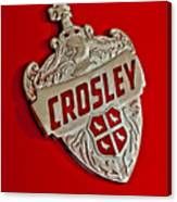 1951 Crosley Hood Emblem Canvas Print