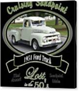1951 Ford Truck Shields Canvas Print