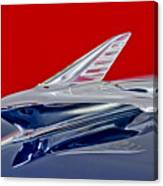 1951 Ford Woodie Hood Ornament Canvas Print