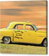 1951 Plymouth Sedan 'yellow Cab' Canvas Print