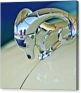 1952 Dodge Coronet  Diplomat Club Coupe Hood Ornament Canvas Print
