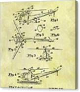 1952 Helicopter Patent Canvas Print