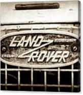 1952 Land Rover 80 Grille  Emblem -0988s2 Canvas Print