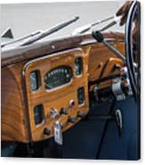 1952 Triumph Renown Limosine Instrument Panel Canvas Print