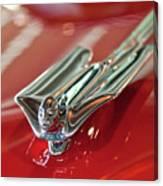 1953 Cadillac Eldorado Convertible Hood Ornament Canvas Print