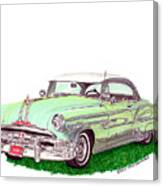 1953 Pontiac Chieftain Catalina H.t. Canvas Print