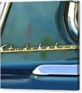 1953 Studebaker Champion Starliner Abstract Canvas Print