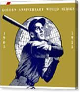 1953 Yankees Dodgers World Series Program Canvas Print