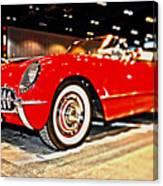 1954 Chevrolet Corvette Number 2 Canvas Print