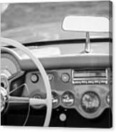 1954 Chevrolet Corvette Steering Wheel -368bw Canvas Print