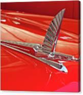 1954 Ford Cresline Sunliner Hood Ornament 2 Canvas Print