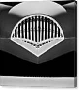 1954 Kaiser Darrin Grille Black And White Canvas Print