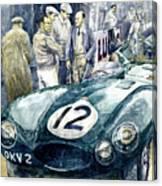 1954 Le Mans 24 Jaguar D Type Short Nose Stirling Moss Peter Walker  Canvas Print