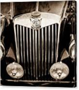 1954 Mg Tf Grille Emblem -0165s Canvas Print