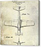 1955  Airplane Patent Drawing 2 Canvas Print