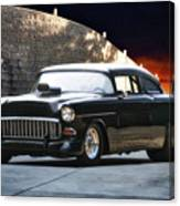 1955 Chevrolet Coupe 'sinister Chevy' Canvas Print