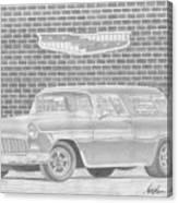 1955 Chevrolet Nomad Classic Car Art Print Canvas Print