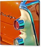 1955 Dodge Coronet Tail Light Emblem -0086c Canvas Print