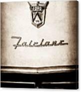 1955 Ford Fairlane Crown Victoria Emblem -1713s Canvas Print