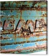 1955 Gmc Truck Tailgate Canvas Print