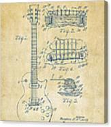 1955 Mccarty Gibson Les Paul Guitar Patent Artwork Vintage Canvas Print