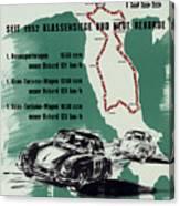 1955 Mille Miglia Porsche Poster Canvas Print
