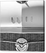 1956 Buick Special Hood Ornament - Emblem -0538bw Canvas Print