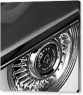 1956 Cadillac Eldorado Wheel Black And White Canvas Print