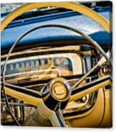 1956 Cadillac Steering Wheel Canvas Print