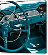 1956 Chevrolet Belair Interior Hdr No 1 Canvas Print