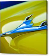1956 Chevrolet Hood Ornament Canvas Print