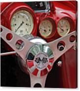 1956 Corvette Dashboard Canvas Print