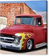 1956 Ford F100 'brickyard' Pickup Canvas Print
