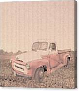 1956 Ford S120 International Truck Canvas Print