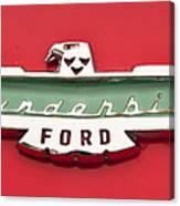 1956 Ford Thunderbird Emblem Canvas Print