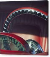 1956 Ford Thunderbird Speedometer - Steering Wheel -0714c Canvas Print