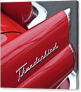 1956 Ford Thunderbird Taillight Emblem 2 Canvas Print