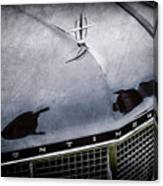 1956 Lincoln Continental Mark II Hess And Eisenhardt Convertible Grille Emblem - Hood Ornament -0126 Canvas Print