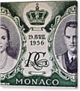 1956 Princess Grace Of Monaco Stamp II Canvas Print