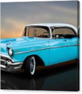 1957 Chevrolet Bel Air 4 Door Hardtop Canvas Print