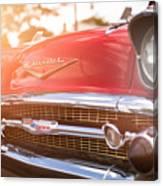 1957 Chevrolet Bel Air Sunset Canvas Print