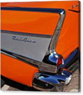 1957 Chevrolet Belair Coupe Tail Fin Canvas Print