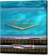 1957 Chevrolet Belair Grille 2 Canvas Print