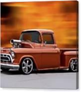 1957 Chevrolet Stepside Pickup Ll Canvas Print